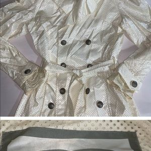 VINTAGE authentic CHANEL 2009 Perforated Trench